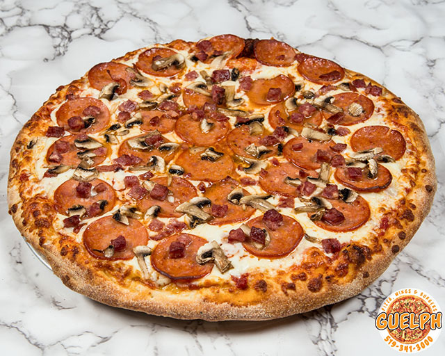 Canadian pizza Guelph pizza wings